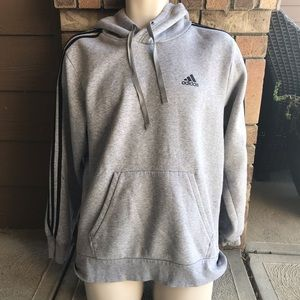 Adidas Heather Gray Hoodie